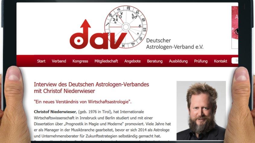 DAV Deutscher Astrologenverband Interview Niederwieser