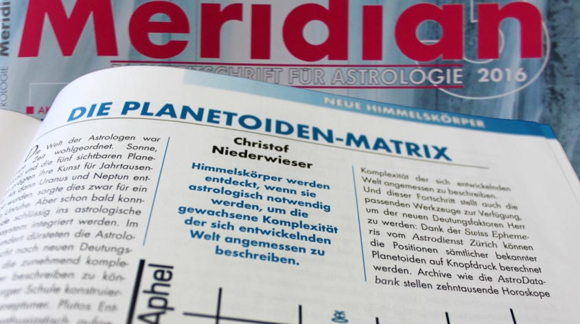 Meridian Planetoiden Matrix Astrologie
