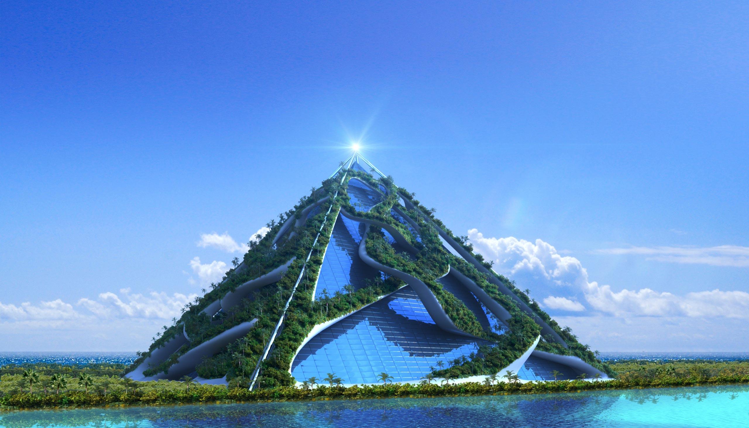 Jupiter-Saturn Luft-Epoche Stadt der Zukunft